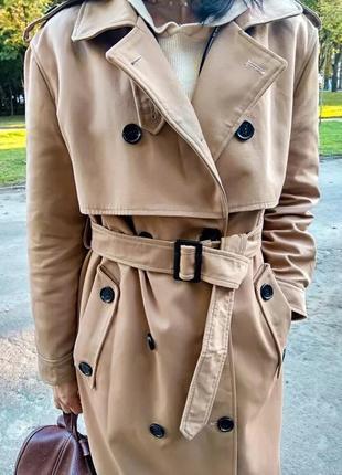 Стильный тренч пальто плащ в стиле zara
