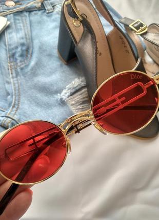 Солнцезащитные женские очки, красая линза.