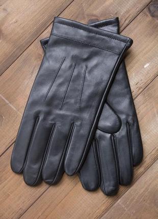 Мужские кожаные сенсорные перчатки