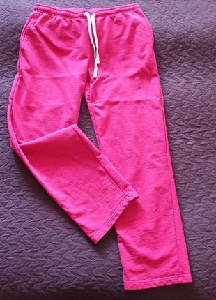 Красные утеплённые спортивные штаны, большой размер