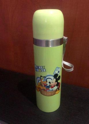 Термос термокружка mickey mouse зеленая 500мл