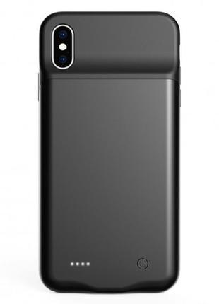 Чехол-аккумулятор для iPhone XS Max 4000 мАч Black