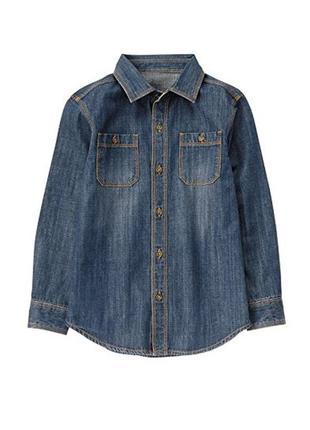Рубашка джинсовая для мальчика 5-7 лет crazy8
