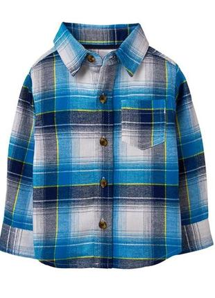 Фланелевая рубашка для мальчика 4, 5 лет crazy8