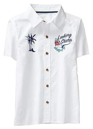 Рубашка для мальчика 7-9 лет crazy8