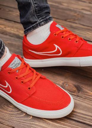 Мужские красные кроссовки nike stefan janoski