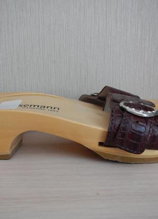 Шлепанцы berkemann р.37(24см) сабо, кожа германия