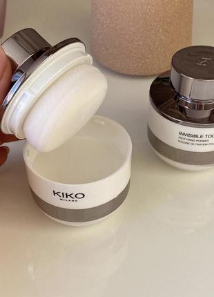 Пудра від kiko milano invisible touch face fixing powder
