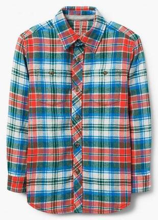 Фланелевая рубашка для мальчика 7-9 лет gymboree