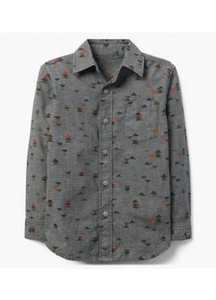 Рубашка для мальчика 5-7 лет gymboree на кнопках