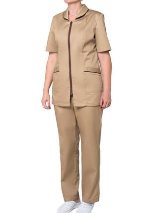 Униформа уборщицы, комплект горничной, костюм женский