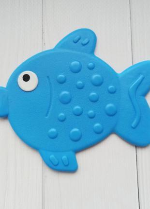 Антискользящий коврик мини для купания, игрушка для ванны рыбка