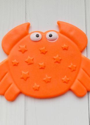 Антискользящий коврик мини для купания, игрушка для ванны краб