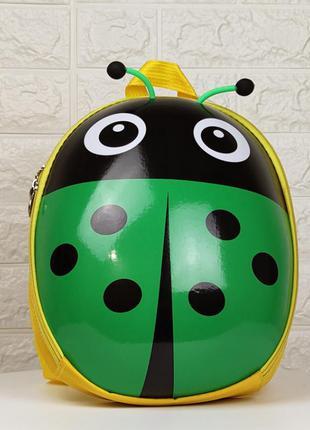 Детский рюкзак божья коровка зелёная