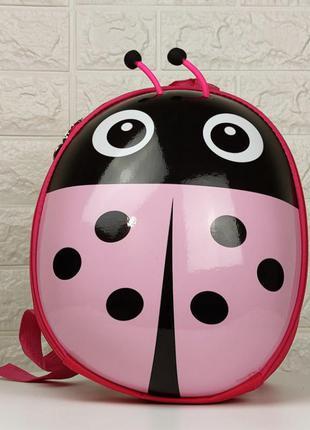 Детский рюкзак божья коровка розовая