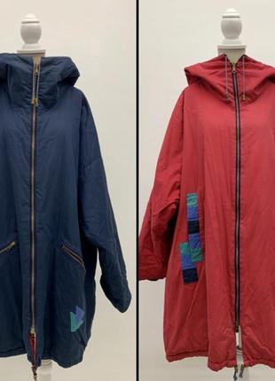 Оверсайз куртка-одеялко двусторонняя