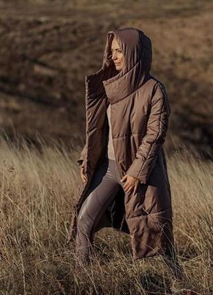 Зимняя куртка стеганая дутая marani эксклюзив дизайнерская