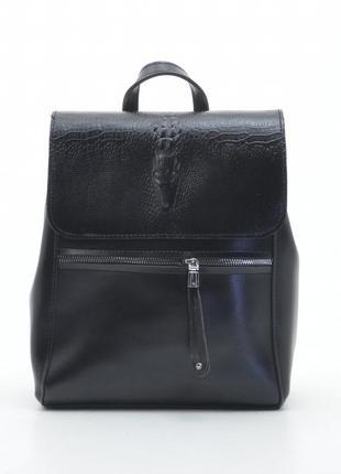 Сумка-рюкзак трансформер черная