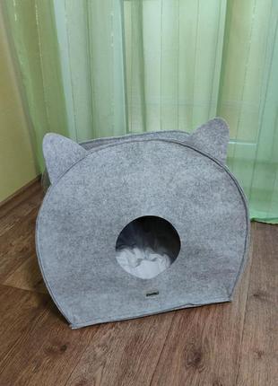 Складной домик для кошек  с мягкой подушкой