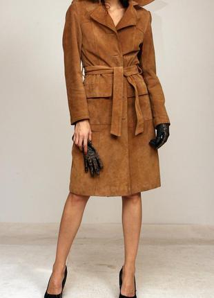 Пальто натуральный замш, замшевое