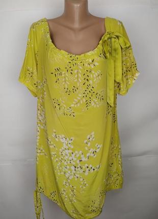 Платье туника шелковая легкое в цветы ted baker uk 14-16/42-44...