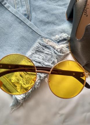 Солнцезащитные женские очки 👓желтая линза
