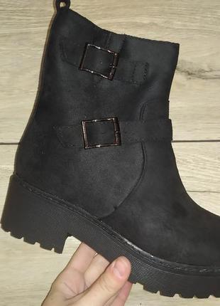 Зимние платформа женские ботинки зима сапоги жіночі полуботинки