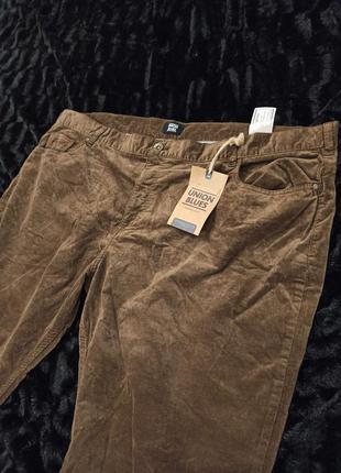 Велюровое джинсы, брюки большой размер, штаны батал union blues