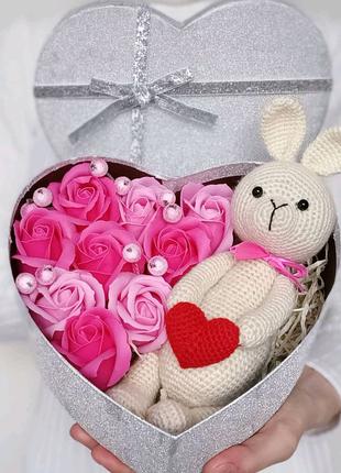 Подарок, подарочный бокс набор, букет из мыльных роз