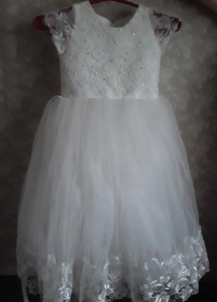 Прокат нарядного платья для девочки 4-6 лет