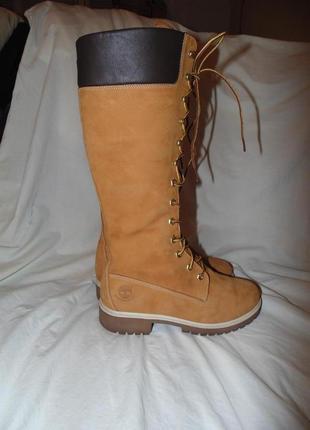 Ботинки сапоги высокие timbarland оригинал кожа нубук по сути ...