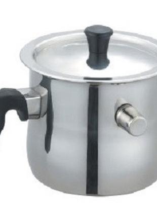 Молочник двустенный со свистком и металлической. крышкой 1,5 литр