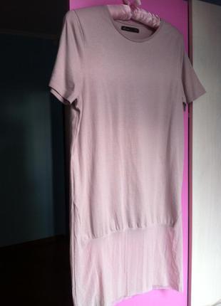 Удлиненная футболка с сеткой