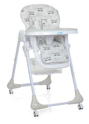 Детский стульчик для кормления M 3233 Raccoon Gray