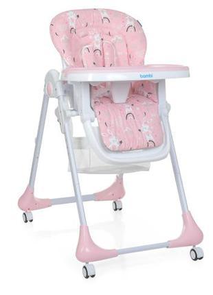 Детский стульчик для кормления M 3233 Rabbit Girl Pink