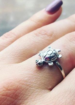 """Кольцо""""черепаха"""" из серебра 925 пробы"""