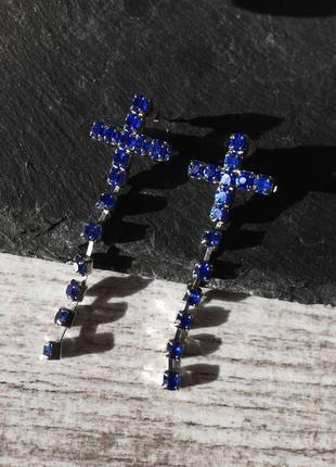 Серьги крестики