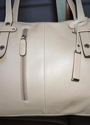 Стильная вместительная номерная сумка из натуральной кожи pica...