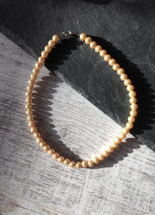 Ожерелье жемчужные бусы