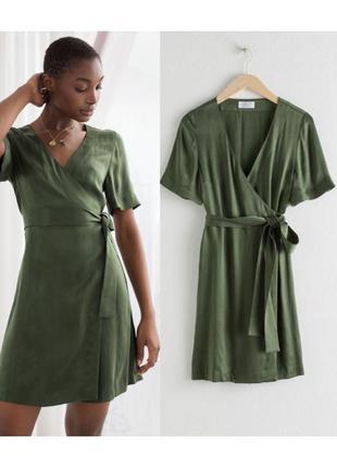 Сатиновое платье на запах