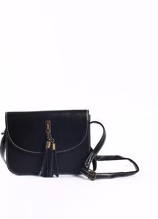 Удобная сумка через плечо, клатч с кисточкой