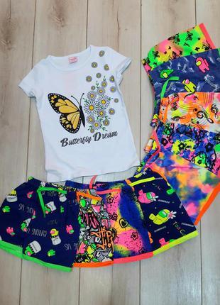 Яркие шорты для девочек. турция