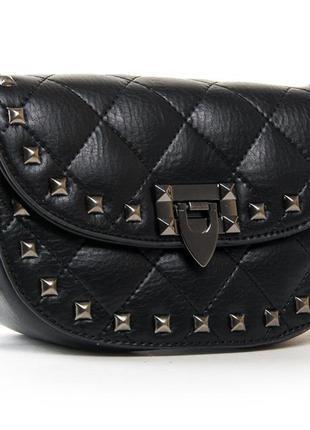 Женская сумочка на цепочке. кожаный женский клатч. красивая ст...
