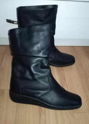 Кожаные ботинки,полусапожки