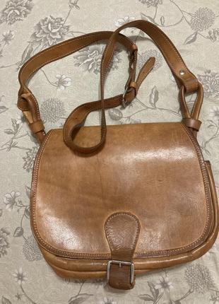 Кожаная сумка, сумка через плечо кожаная сумка