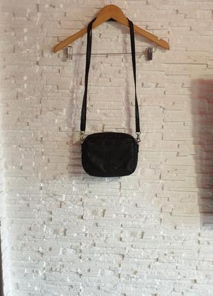 Небольшая кожаная кросс боди сумка depeche
