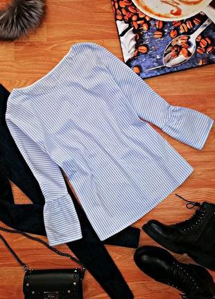 Женская трендовая блуза - рубашка в полоску с воланами cinque ...
