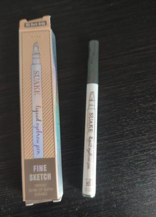 Водостойкий карандаш для бровей music flower коричневый 02