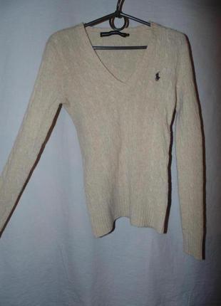 Джемпер свитер шерстяной polo ralph lauren оригинал как новый ...