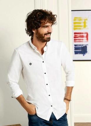 Отличная белая рубашка Livergy. S ворот 37-38